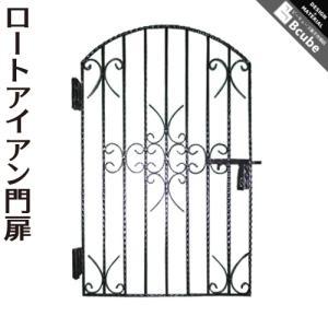 ○ヨーロピアン調のアイアン製門扉 ○ハンドメイドの為、サイズには若干の誤差があります。塗装は施してお...