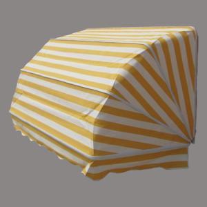 コーベルオーニング 日よけ 雨よけ イエローストライプ(大) 幅188×奥行92×高92cm INK-1601004H|bcube