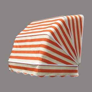 コーベルオーニング 日よけ 雨よけ オレンジストライプ(小) 幅97×奥行92×高92cm INK-1601008H|bcube