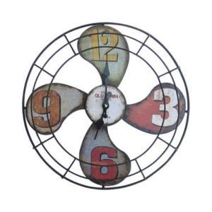 時計 壁掛け 扇風機型 アンティーク 幅39.5×高39.5 INK-1710020H bcube