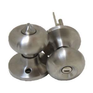 ドアノブ 内鍵付き アンティーク風 シルバー(銀) INK-6082SS-BK|bcube