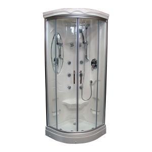 エリア限定販売 シャワーブース FRP製 ガラス/クリアタイプ 幅76×奥行76×高209cm INK-949A|bcube
