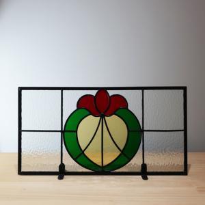 ステンドグラス 窓枠 ドア アイアン 幅48cm INK-Sglass4|bcube