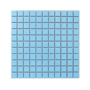 モザイクタイル 陶器 11枚セット(約1平米) ライトブルー(青) [幅30×奥行30×厚み0.5cm] INK-YZ2501 bcube