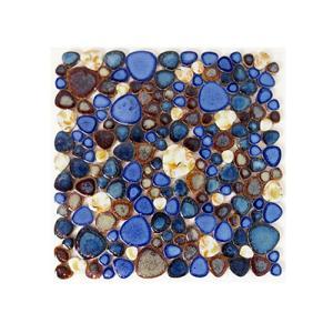 モザイクタイル 陶器 11枚セット(約1平米) 玉石 [幅30×奥行30×厚み0.5cm] INK-YZ6083 bcube