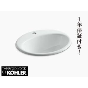 洗面ボウル 埋め込み おしゃれ 大きい シンク 鋳物ホーロー オーバル 1穴 コーラー ファーミントン KOHLER Farmington 幅48.9cm K-2905-1-0 代引決済不可 bcube