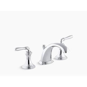 洗面水栓 蛇口 交換 混合水栓 3穴 8インチ レバーハンドル KOHLER デボンシャー 吐水口高12.7cm K-394-4-CP 代引決済不可 bcube