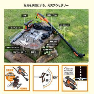 5in1ポールヘッジ&芝生バリカン GPSH1000【日本正規代理店品・保証付き】|bdkshop|06