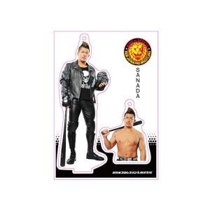新日本プロレス NJPW フィギュアシートキーホルダー SANADA bdrop