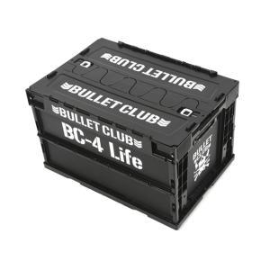 新日本プロレス NJPW BULLET CLUB 折りたたみコンテナ(ブラック×ホワイト)|bdrop