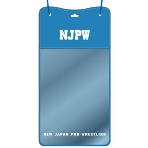 新日本プロレス NJPW ライオンマーク 防水スマホ&チケットホルダー(ブルー×ホワイト)|bdrop