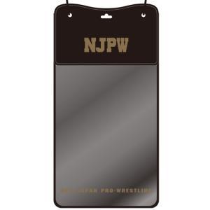 新日本プロレス NJPW ライオンマーク 防水スマホ&チケットホルダー(ブラック×ゴールド) bdrop