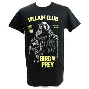 直筆サイン入り:マーティー・スカル Bird of Prey ブラックTシャツ|bdrop