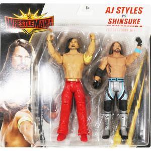WWE AJスタイルズ/中邑真輔のフィギュアです。 サイズ:AJスタイルズ 約 16.5 cm、中邑...