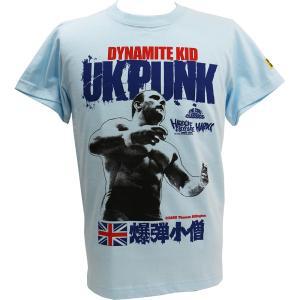 BD限定:新日本プロレス NJPW ダイナマイトキッド (ブリティッシュライトブルー) Tシャツ Hardcore Chocolate/ハードコアチョコレート|bdrop