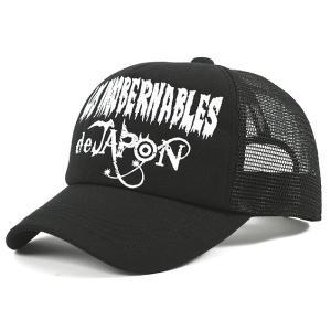 新日本プロレス NJPW 内藤哲也 ロス・インゴベルナブレス・デ・ハポン L・I・J キャップ 帽子 (ブラック×ホワイト)|bdrop