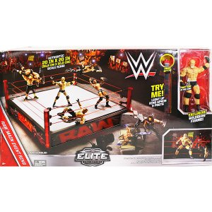 WWE Eliteシリーズ仕様のゴールドバーグフィギュア付きリングセットです。 輸入品の為、パッケー...