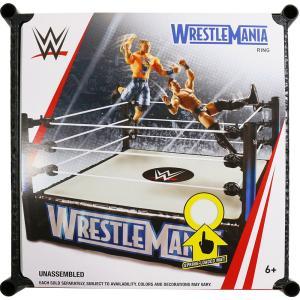 WWE Mattel WrestleMania Superstar Wrestling Ring(スプリングマットギミック) オープンパッケージ版|bdrop