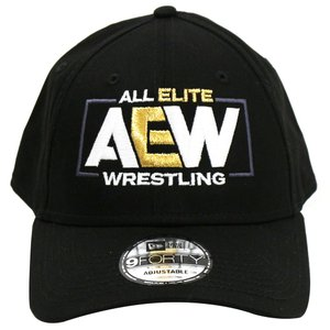 AEW Logo New Era 9forty ベースボールキャップ|bdrop