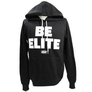 XXLサイズ:AEW Be Elite プルオーバーパーカー ブラック(薄手) bdrop
