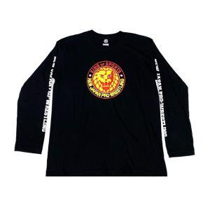 新日本プロレス NJPW ライオンマーク 長袖Tシャツ(カラーロゴ) bdrop