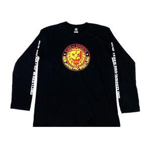 XXLサイズ:新日本プロレス NJPW ライオンマーク 長袖Tシャツ(カラーロゴ)|bdrop