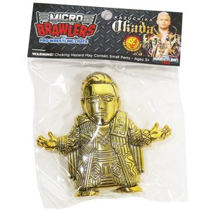 新日本プロレス NJPW オカダ・カズチカ Gold Variant Micro Brawlers ミニフィギュア|bdrop