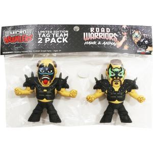 WWE Road Warriors(ロード・ウォリアーズ) Micro Brawler ミニフィギュア|bdrop