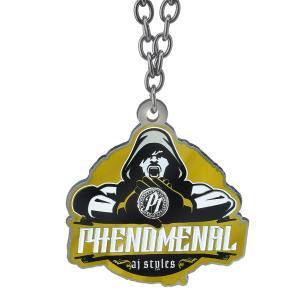 WWE AJ Styles(AJスタイルズ) Phenomenal ブラック/ゴールドペンダント bdrop