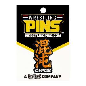 新日本プロレス NJPW Chaos Orange ピンバッジ|bdrop