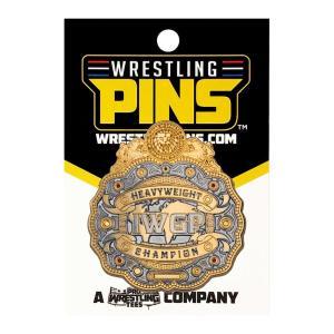 新日本プロレス NJPW IWGPヘビー級王座ベルト センタープレート ピンバッジ|bdrop