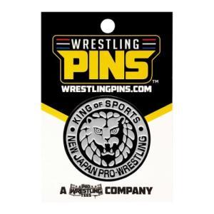 新日本プロレス NJPW ライオンマーク Silver ピンバッジ|bdrop