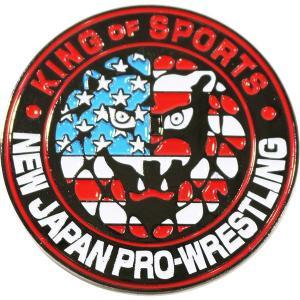 新日本プロレス NJPW ライオンマークUSA ピンバッジ|bdrop