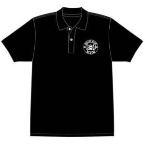 背中のプリントがインパクト大!BULLET CLUBのスタンダードポロシャツが完成! 左胸にサークル...