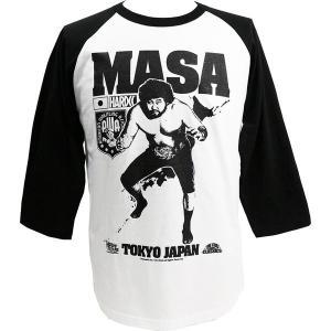 MASA(マサ斎藤)七分袖ラグラン Tシャツ Hardcore Chocolate/ハードコアチョコレート|bdrop