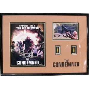 送料無料:WWE The Condemned(監獄島) スティーブ・オースチン 直筆サイン入り 記念フレーム bdrop