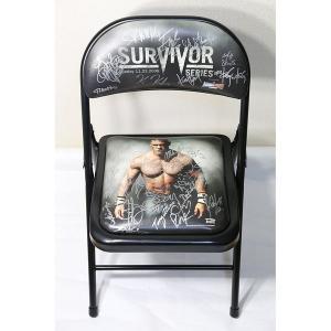 送料無料:サバイバー・シリーズ 2008 PPV チェア WWEスーパースター30人 直筆サイン入り bdrop