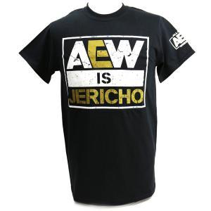 XXLサイズ:AEW Chris Jericho(クリス・ジェリコ) AEW is JERICHO ブラックTシャツ|bdrop