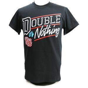 XXLサイズ:AEW Double or Nothing ブラックTシャツ|bdrop