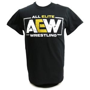AEW Logo ブラックTシャツ|bdrop