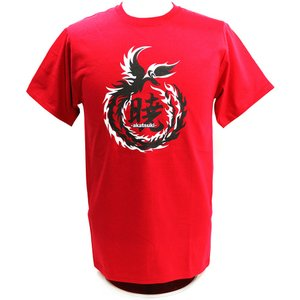 Tシャツ XXLサイズ:DRAGON GATE 暁-AKATSUKI-/鷹木信悟 Logo レッド|bdrop