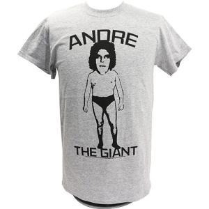 Tシャツ WWE Andre the Giant (アンドレ・ザ・ジャイアント) BIG HEAD ライトグレー|bdrop