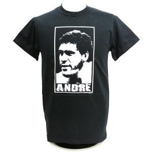 Tシャツ XXLサイズ:WWE Andre the Giant (アンドレ・ザ・ジャイアント) Face ブラック|bdrop