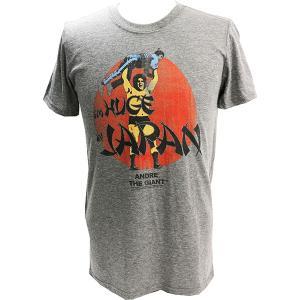 WWE Andre the Giant (アンドレ・ザ・ジャイアント) HUGE ライトグレーTシャツ bdrop
