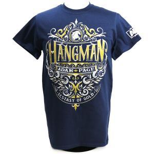 Tシャツ AEW Hangman Adam Page(ハングマン・アダム・ペイジ) Ecstasy of Gold ネイビー|bdrop