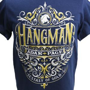 Tシャツ AEW Hangman Adam Page(ハングマン・アダム・ペイジ) Ecstasy of Gold ネイビー bdrop 02