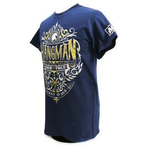 Tシャツ AEW Hangman Adam Page(ハングマン・アダム・ペイジ) Ecstasy of Gold ネイビー bdrop 03
