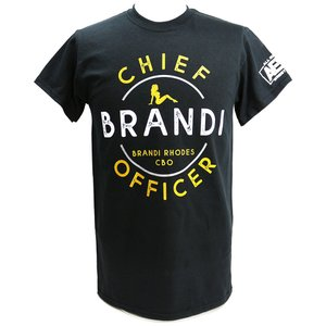 【BD SALE!!! 2,000円Tシャツ】Tシャツ AEW Brandi Rhodes(ブランディ・ローデス) Chief Brandi Officer ブラック|bdrop