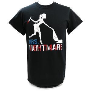 【BD SALE!!! 2,000円Tシャツ】XXLサイズ:Bullet Club(バレットクラブ) ブランディ・ローデス Mrs Nightmare Tシャツ|bdrop