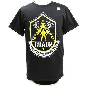 Tシャツ WWE Braun Strowman(ブラウン・ストローマン) The Monster of All Monsters ブラック|bdrop